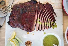Steak met chimichurrisaus